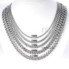 3/5/7MM Wholesale 1/5/10Meter Stainless Steel Mens Chains Fashion DIY Jewelry