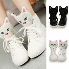 Girl Ms. High-top Heavy-Bottomed Oxytropis Lace Thick Soles Shoelace Flat Shoes