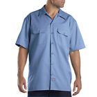 Dickies Mens Short Sleeve Work Uniform Button Up Casual Shirt 1574 Sizes S-6XL фото