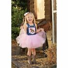 Mud Pie Horse Denim Overall Tutu Dress Size 06M-5T  #1142171 NWT