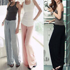 AU SELLER Draped Cotton Wide Leg Sports Gym Yoga Harem Beachwear Pants P009