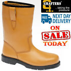 GRAFTERS WORK STEEL TOE SAFETY RIGGER BOOTS UK SIZES 7-10 TAN RRP £46