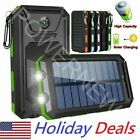 2020 Waterproof 2000000mAh USB Portable Charger Solar Power Bank For Phone
