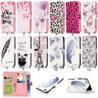 Paint Magnetic Flip PU Leather 9 Card Slots Wallet Stand Case Cover For Phone