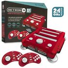 Retron 3 3in1 Retro Console 2.4 GHz for Nintendo NES SNES Sega Genesis Games Red
