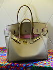 NEW Milan Soft Taupe Italian Leather Tote Handbag (GHW) 30CM 35CM