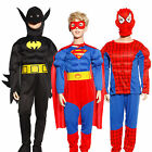 costume enfant deguisement combinaison superman musclé bat man spiderman hero