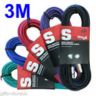 Stagg 3M XLR Coloured Male-Female Microphone Lead & Audio Signal DJ Cables