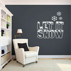 winter romance quotes - Let It Snow - Seasonal Winter Christmas Holiday Quotes Wall Decals