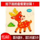 Lovely Wooden Blocks Animals Kids Children Cute Educational Toys Puzzle