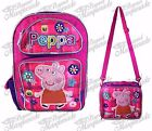 """16"""" Nickelodeon Peppa Pig Large Pink Backpack Lunch Bag (1 pc)"""