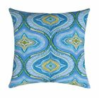 Aqua, Blue, Teal, Green Moroccan Outdoor Throw Pillow, Blue Pool Deck Pillow