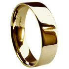 8mm 9ct Yellow Gold Wedding Rings Flat Court UK HM 10g Heavy Profile Bands Q-Z