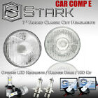 "H6024 Head Light Glass Housing Lamp Classic Conversion Chrome 7"" Round PAIR (F) $ USD"
