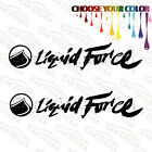 "2 of 8"" Liquid Force /B wakeboard surf car truck window bumper stickers decals"