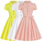 Candy Colors Retro Vintage Style Swing Pinup Housewife 50's Evening Party Dress