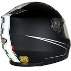 VIPER RS-V9 FULL FACE SPEED BLACK MOTORCYCLE MOTORBIKE HELMET - INNER SUN VISOR