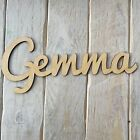 Make Your Own Personalised Wooden Name Sign Blank SCRIPT Style Craft Shape Name