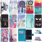 Magnetic Painted Rope PU Leather Wallet Card Holder Stand Case Cover For Phones