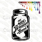 "1 of 5"" to 20"" Zac Brown Band Mason Jar /A artist car wall stickers decal bumper"