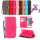 Fashion Pattern Flip Stand Card Wallet Leather Case Cover For iPhone Series+Gift