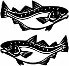 2x Large Cod Stickers, Catering Trailer Stickers/Vinyl Graphics, Fish Shop