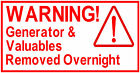 4x Warning Generator &..., Catering Trailer Stickers/Vinyl Graphics, Burger Van.