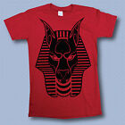Anubis Egyptian Illest Swag Drake Dope Trap Black Vinyl T-Shirt Mens Red