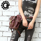 Women And Girl's Vintage Sports Fanny Leg Bag Steampunk Shoulder Waist Pack Red