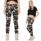 New Womens Army Military Camouflage Slim Stretch Combat Pants Cargo Trousers