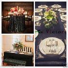 Black Sparkly Sequin TableCloth Tablecloths for Wedding /Event/Party/Banquet