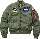 Alpha Industries MA-1 VF NASA women 168007 /01 sage green neu Damen Pilotin