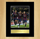 Lionel Messi Luis Suarez Neymar Signed Mounted Photo Display FC Barcelona