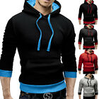 Stylish New Mens Slim Sweatshirts Hoodie Hooded Coat Casual Jumper Pullover Tops