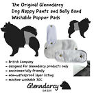 GLENNDARCY - WASHABLE DOG SEASON / URINE INCONTINENCE POPPER PADS - SMALL - XL