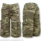 KIDS ARMY CAMOUFLAGE SHORTS BOYS GIRLS CARGO CAMO SUMMER HOLIDAY GAME