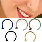 Stainless Steel Jewelry Nose Open Hoop Ring Earring Body Piercing Studs 8mm HOT