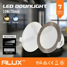 10x 10W DIMMABLE LED DOWNLIGHT KIT 70MM CUTOUT IP44 WARM/DAYLIGHT WHITE