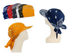 Visor 100% Cotton Paisley Bandana Tichel Headcover Sun Protection Cap
