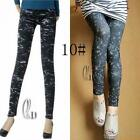 AU SELLER Sexy Skinny Punk Rockabilly Denim Jean Look Leggings Slim Pant p022-10
