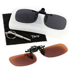 Day Use UV 400 Clip-on Flip up Sunglasses Polarized Lenses for Driving Cycling