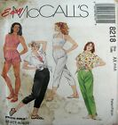 McCalls Sewing Pattern 8218 Ladies High Waist Shorts Pants Top