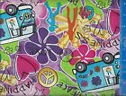Come Get Happy Peace Love Fabric Home Decor Crafting Quilting