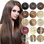 "Brand New AAA 22"" Clip In Remy Real Human Hair Extensions Straight 6 Color 140g"