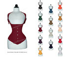22 Double Steel Boned Waist Training Cotton Underbust Shaper Corset #H8028-TC
