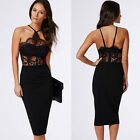 Womens New Bodycon Cocktail Bandage Dress Ladies Party Evening Dress Black S-XL