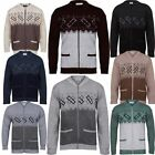 Men Classic  Zip Up  Granddad Cardigan With Two Front Pockets sizes-S,M,L,XL