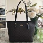 Top Holiday Gifts Coach F58292 F58846 City Zip Tote Outlet Exclusive Handbag New With Tags