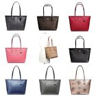New Coach F58292 F58846 City Zip Tote In Signature Pvc Canvas Crossgrain Leather