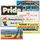 Gay Pride Novelty Bumper Stickers